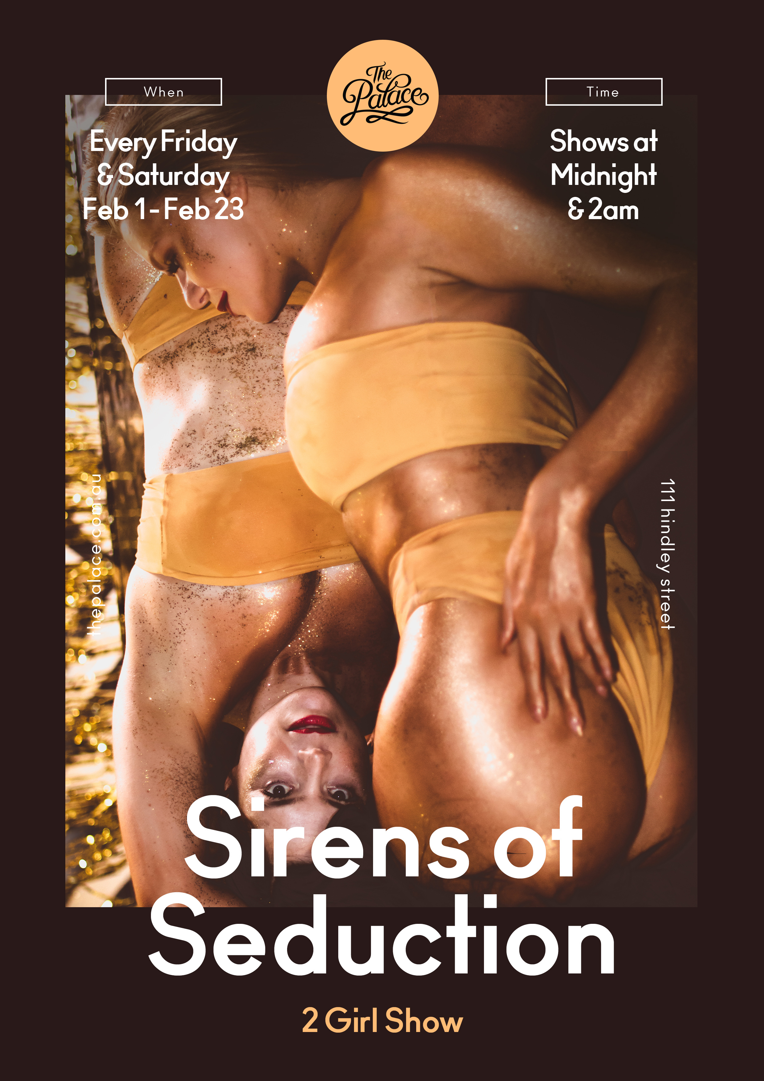 Sirens of Seduction - The Palace Adelaide, 111 Hindley St, Adelaide