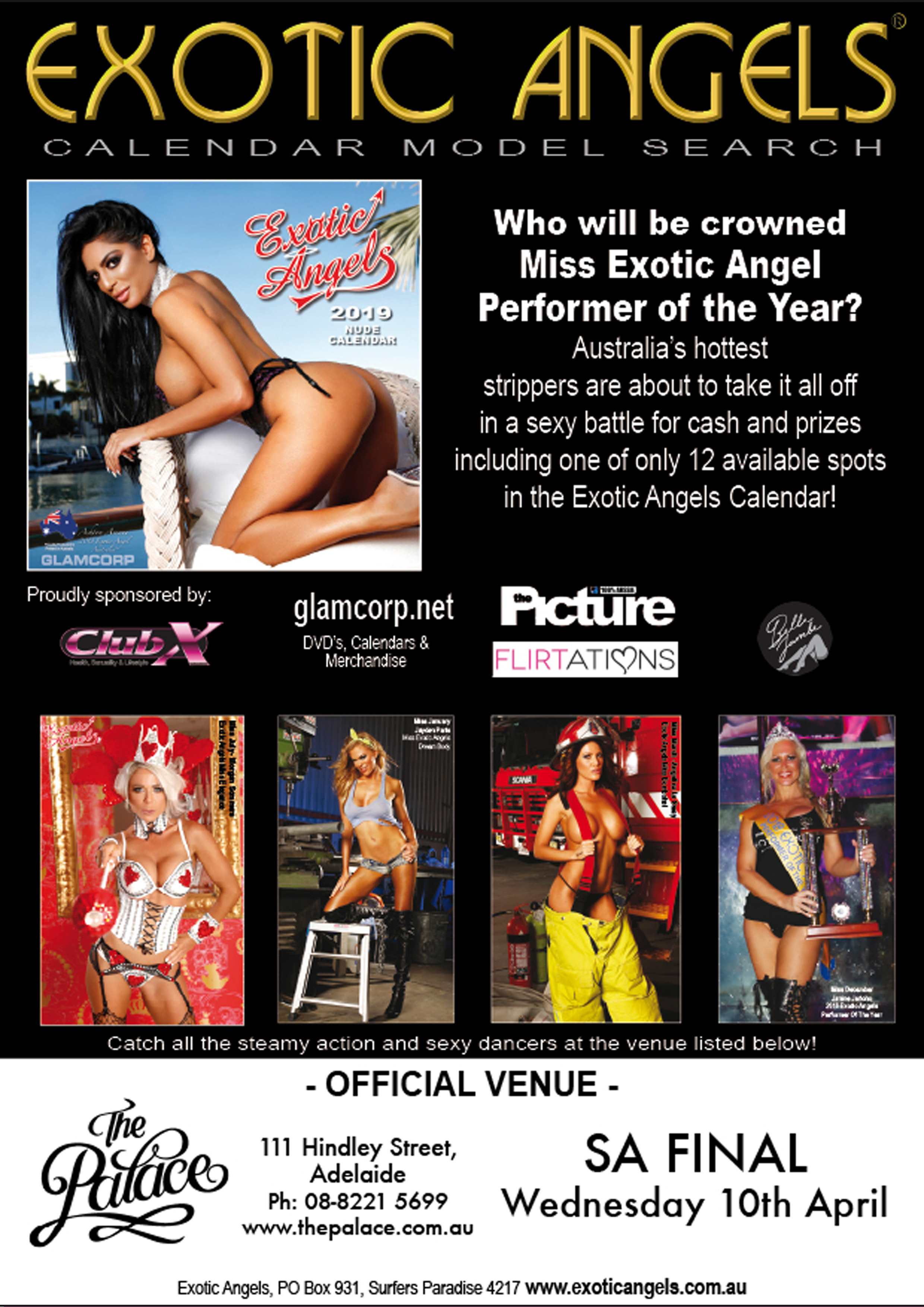 Exotic Angels - The Palace Adelaide, 111 Hindley St, Adelaide