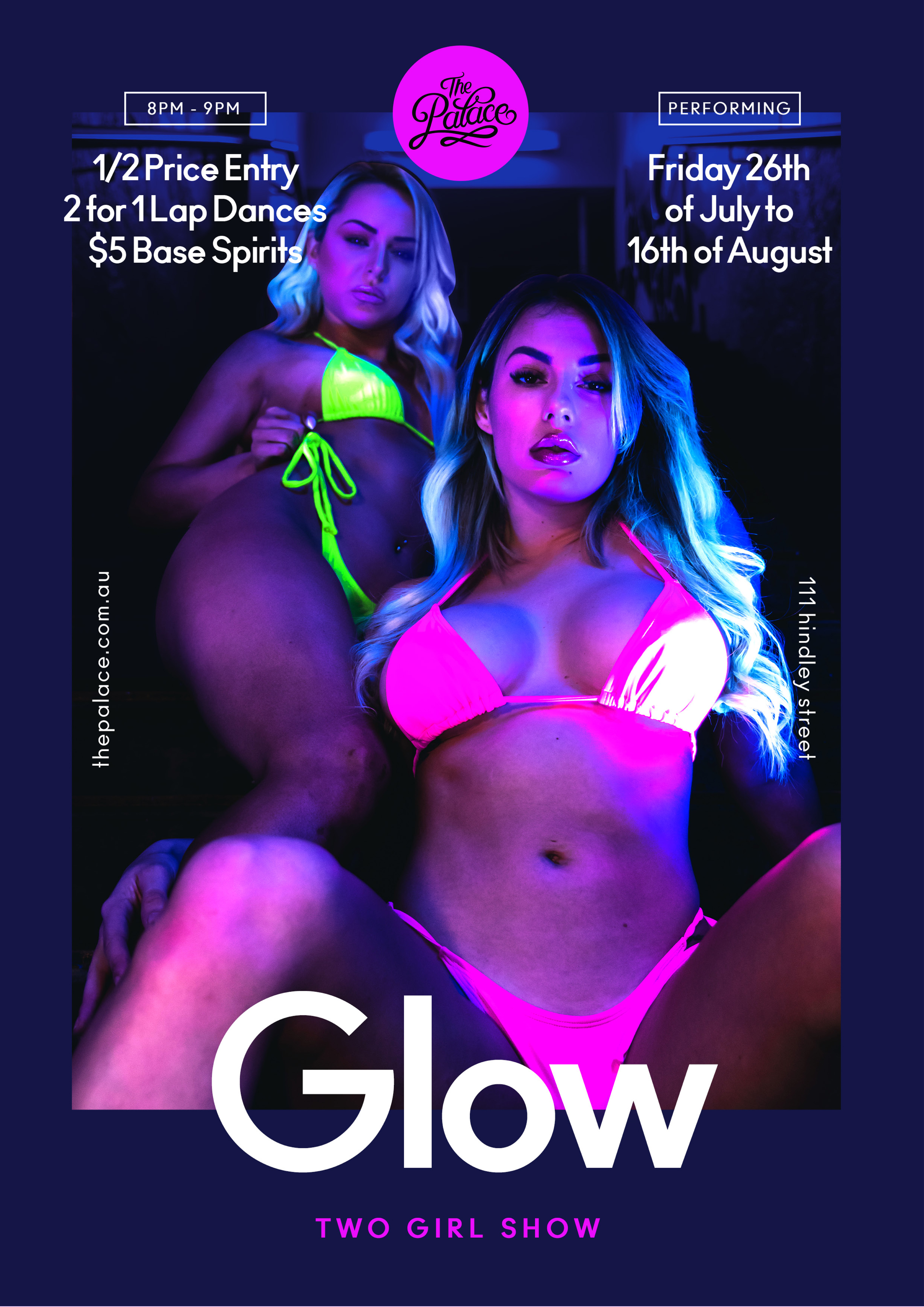 Glow, Australia's hottest Showgirls - The Palace Adelaide, 111 Hindley St, Adelaide