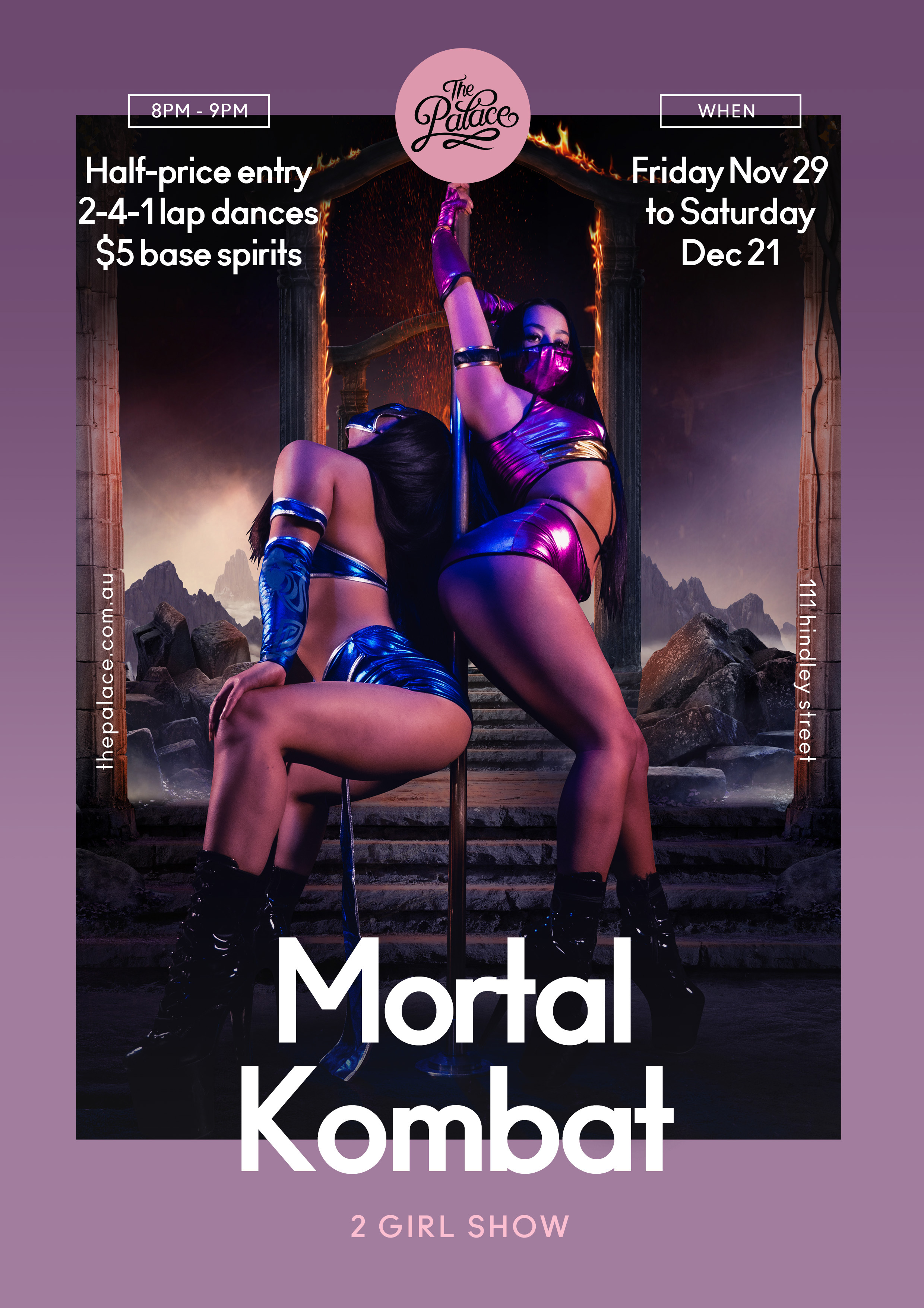 Mortal Combat - The Palace Adelaide, 111 Hindley St, Adelaide